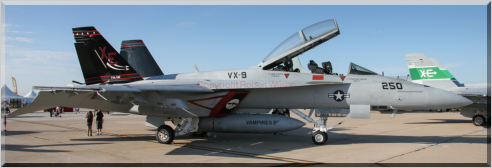 166673 / XE-250 - F/A-18F of VX-9 based at Naval Air Weapons Station China Lake