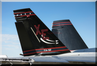 Tail of 166673 / XE-250 of VX-9 based at Naval Air Weapons Station China Lake