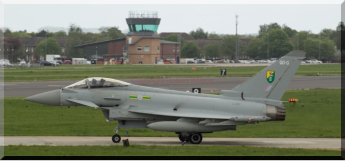 Typhoon 75 taxing out for a sortie