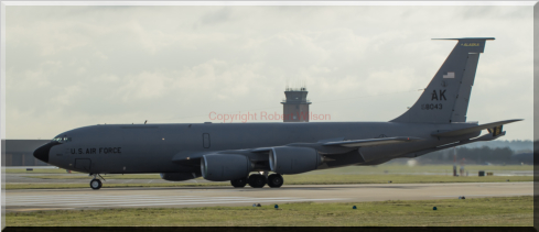Reach 205 taxing off the runway at RAF Mildenhall