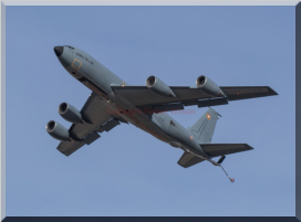 FAF 4043 departing Mildenhall after a short period on the ground collecting aircrew