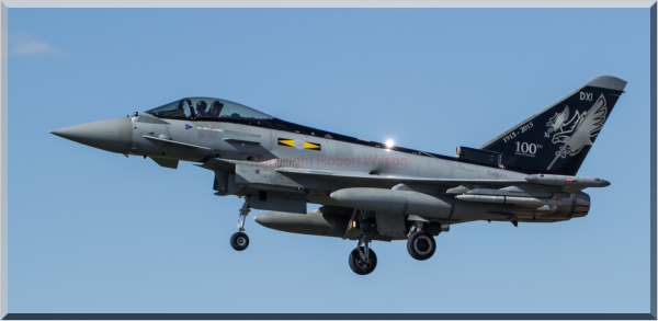 Tyrant 23 coming into land at RAF Coningsby