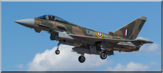 Triplex 72 returning to Coningsby painted in camo to celebrate the 75th Anniversary of the Battle of Britain