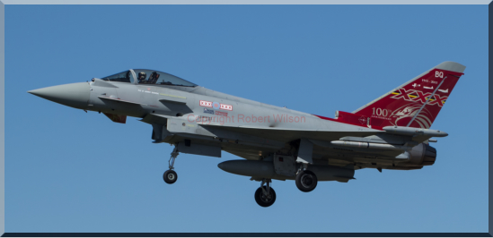 Triplex 71 returning to Runway 25 at Coningsby