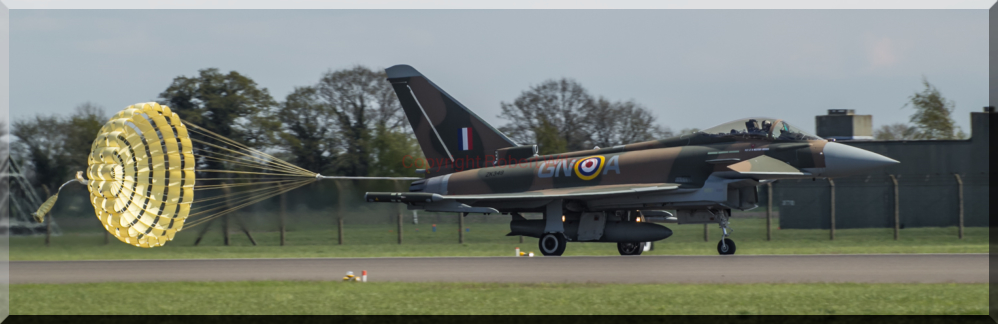 Horseman 52 streaming the chute on its return to Coningsby