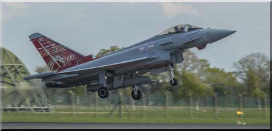 Triplex 72 on its way out from Coningsby on a sortie