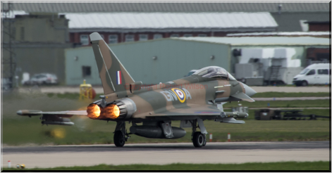Triplex 31 lighting the burners for departure from Coningsby