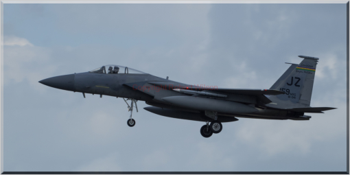 Fang 03 on approach to the runway at RAF Lakenheath